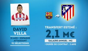 Officiel : David Villa signe à l'Atlético Madrid !