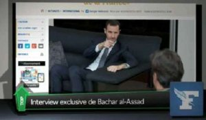 Top Média : l'interview exclusive de Bachar el-Assad dans le Figaro
