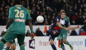 But Edinson CAVANI (117ème) - Paris Saint-Germain - AS Saint-Etienne - (2-1) - 18/12/13 (1/8 de finale) (PSG - ASSE)