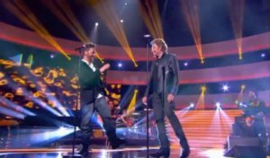 "Johnny Hallyday et Christophe Maé "" Marie "" - Johnny Hallyday, Le Grand Show 21/12/2013"