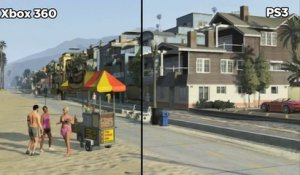 Grand Theft Auto V - Comparatif PS3 / Xbox 360