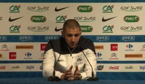 Replay point presse Equipe de France 03/03/2014  (Deschamps, Digne, Benzema, Griezmann)