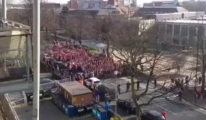 Manchester United vs Bayern Munich : Bayern fans in the street