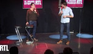 Kevin et Tom dans le Grand Studio RTL Humour de Laurent Boyer.