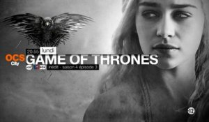 Game of Thrones saison 4 épisode 3 : bande-annonce