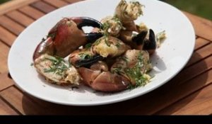 Pinces de crabe au barbecue - 750 Grammes