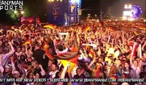 World Cup 2014 - German Fans In Berlin Celebrate Like Crazy After Winning 2014 World Cup