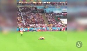 SoccerWorld Cup 2014 : Streaker during Germany VS Argentina final game