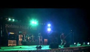 Faded Black from Nagaland performs at Kohima Metal Fest '12