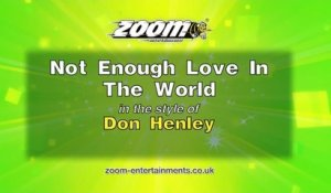 Zoom Karaoke - Not Enough Love In The World - Don Henley