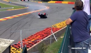 Accident spectaculaire sur le circuit de Spa-Francorchamps