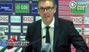 La satisfaction de Laurent Blanc