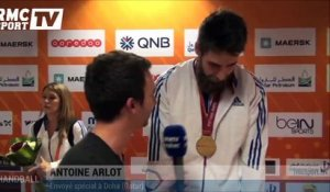 "Handball / L. Karabatic : ""Le sentiment du devoir accompli"" 01/02"