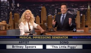 Christina Aguilera imite Britney Spears à la perfection
