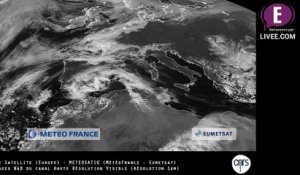 Vue Espace - N&B - Europe - Satellite METEOSAT10 (REPLAY)