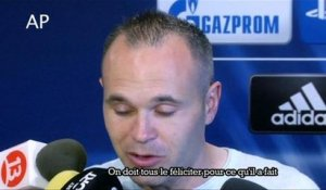 "Iniesta : ""Lionel Messi rend les choses faciles"""