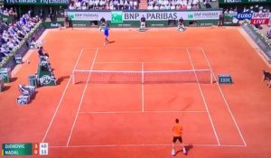 Tennis - L'échange incroyable du match de Tennis Rafael Nadal - Novak Djokovic
