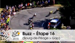 Buzz du jour / Buzz of the day - Geraint Thomas's crash - Étape 16 (Bourg-de-Péage > Gap) - Tour de France 2015