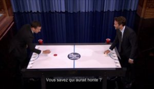 Beer Hockey entre Jimmy Fallon et Taylor Kistch - Tonight Show du 07/08, sur MCM !