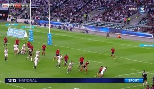 Le XV de France s'incline à Twickenham