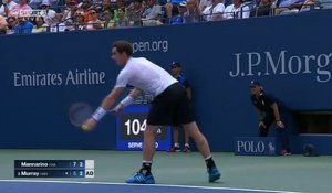 US Open - Mannarino allume Murray au filet