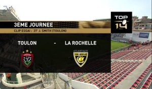 TOP 14 - Toulon - La Rochelle : 45-24 - ESSAI Juan SMITH (TLN) - Saison 2015/2016