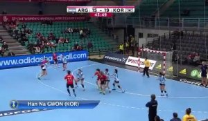 But contre son camp Lucía Haro (Argentine) / Mondial 2015 Handball