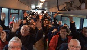 Les supporters de l'US Saint-Malo en route pour la Coupe de France
