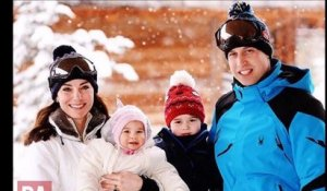 Adorables : Kate Middleton et le prince William posent en famille en vacances au ski