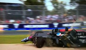 Grand Prix d'Australie : Fernando Alonso se sort miraculeusement d'un terrible accident