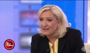 L'interview de Marine Le Pen à Radio-Canada - Le Petit Journal du 24/03 - CANAL +