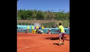 ATP - Mutua Madrid Open 2016 - Wawrinka, Murray et Djokovic à l'entrainement au Mutua Madrid Open