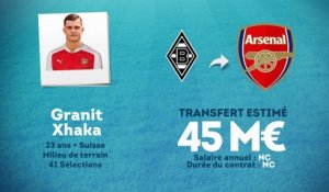 Officiel : Granit Xhaka s'engage avec Arsenal !