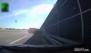 Un chien cause un terrible accident en traversant l'autoroute ! -