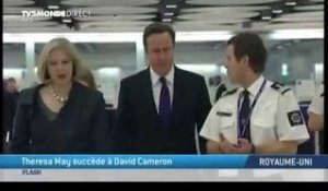 Theresa May succède à David Cameron