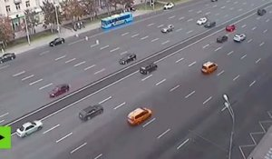 VIDEO CHOC : accident mortel sur une autoroute russe