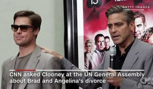 Georges Clooney apprend le divorce de Brad et Angelina en direct - Pitt & Jolie