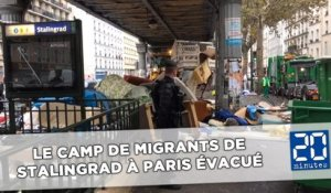 Les images de l'évacuation du camp de migrants de Stalingrad à Paris