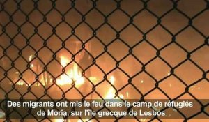 Incidents dans un camp de migrants à Lesbos après deux morts