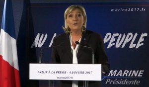 """Patriotisme économique"" : Marine Le Pen cite Donald Trump en exemple"
