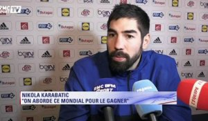 "Karabatic : ""On aborde ce Mondial pour le gagner"""