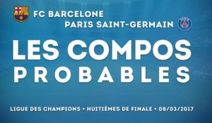 Barcelone-PSG : les compositions probables