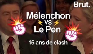 Mélenchon VS Le Pen : 15 ans de clash
