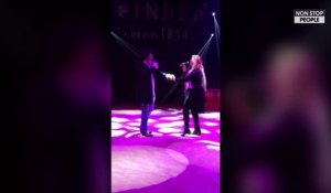 """Le Journal Intime de Loana"" : Loana chante son titre Love Me Tender au Cirque Pinder ! (EXCLU VIDEO)"