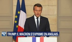 "Emmanuel Macron s'adresse aux Américains: ""Make our planet great again"""