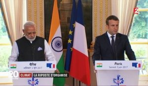 Accord de Paris : la France et l'Inde défient Donald Trump sur le climat