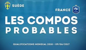 Suède-France : les compositions probables