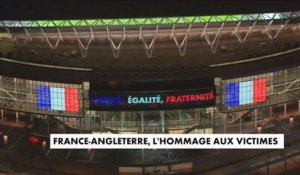 Match France-Angleterre : l'hommage aux victimes