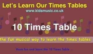 Kidzone - Let's Learn Our Times Tables - 10 Times Table