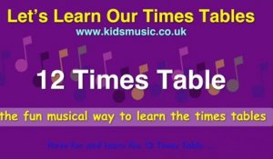 Kidzone - Let's Learn Our Times Tables - 12 Times Table